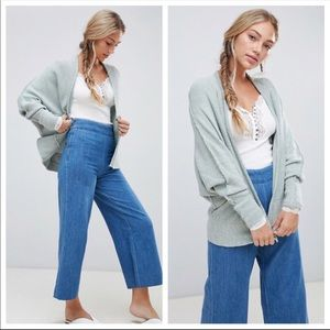 Free People Motions Heathered Open Front Cardigan